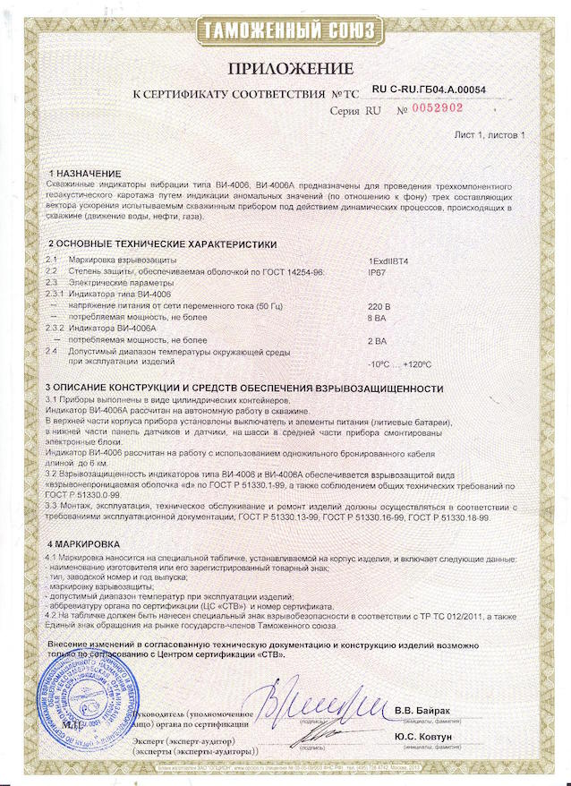 Application of Certificate of authenticity